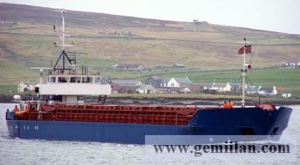 Kuru yük gemisi satılık Alman Yapmı 1985  DWT 1550